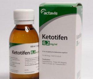 Кетотифен в форме сиропа для детей