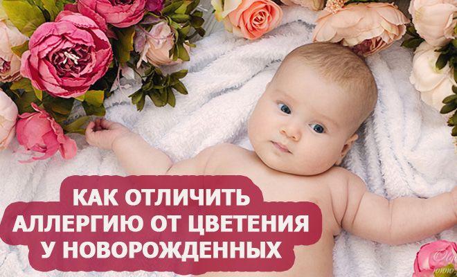 Как отличить аллергию от цветения у новорожденных?