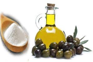 Сода и оливковое масло