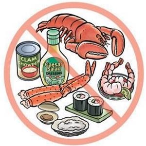 Запрет на морепродукты